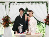 【結婚式拝見】和装人前式&洋風披露宴!いいとこどりのハイブリットウェディング♪