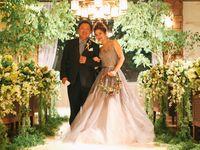【結婚式拝見】15kgの減量に成功!旦那さんと一緒に頑張った愛に溢れたウェディング♪