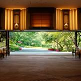 日本庭園が一望できる人気会場