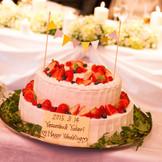 ウェディングケーキは完全オーダーメイド 隣接するパティスリー【ル ジャルダン デュ ソレイユ】のシェフパティシエがご希望を伺ってお作り致します