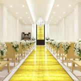 オニキスの光輝くバージjンロードは花嫁を美しく 包み込みます。温かい挙式がかなえられる 大切な人との挙式をかなえられます。