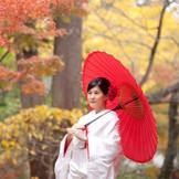 白無垢が映える秋