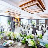 イタリアのミラノにあるブランドホテルをイメージして造られた、華やかでスタイリッシュなパーティ会場。