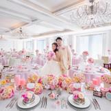 白を基調とした「ニューヨークレジデンス」では、お姫様仕様の可愛い装飾も似合う!!