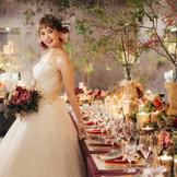 大人花嫁に人気のノスタルジックナチュラルな雰囲気の会場