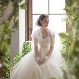 柔らかい自然光が花嫁さまの未来を明るく照らします