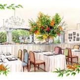 ガーデンを望むナチュラルレストラン空間で叶える自然体のウェディング