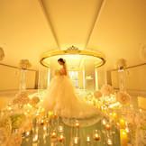 キャンドルを灯すとロマンティンックな雰囲気に