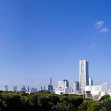 横浜・みなとみらいエリアの程近い小高い丘の上に佇む迎賓館からの眺望