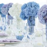 6月といえばジューンブライド☆ 6月の花嫁は幸せになれる… そんなジューンブライドにぴったりの紫陽花のコーディネート 大人グラデーションカラーでコーディネートに差をつけて☆