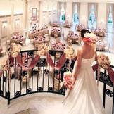 シンデレラ階段付きの披露宴会場