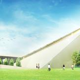 高崎駅前に2016年春オープン予定の『森の光教会』。世界的に活躍する隈研吾氏が設計を手掛ける独立型チャペル。