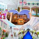 ふたりの大切なゲストを出迎えるのは高級ホテルを思わせるエントランス。 特別な一日のはじまりを予感させる華やかな雰囲気で、一人ひとりを幸せに満ちた空間へ