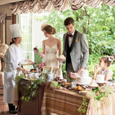 ゲストとの会話の弾むデザートビュッフェはオススメ。