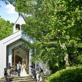 【チャペル ヴァンヴェール】庭園に佇むチャペルは緑を近くに感じられる空間に昨年Renewal