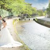 フォトロケーションが点在する京都岡崎 結婚式後のアフターの時間も撮影が可能