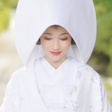 伝統的な白無垢で憧れの花嫁姿に