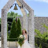 ガーデンを見下ろすセレモニーベル♪祝福の鐘をふたりで響かせて♪