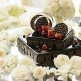 ブルガリのチョコを使用したウェディングケーキ