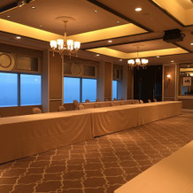 70階の披露宴会場