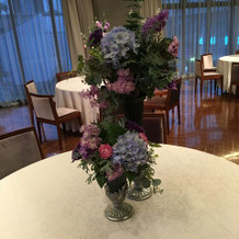 テーブルのお花