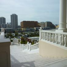 大階段の上から見える景色