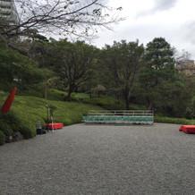 庭園(当日の写真撮影場所)