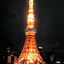 東京タワーの夜景がよくなって見えます