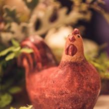 鶏の置物(かわいい)