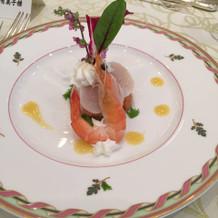 フェアの際の前菜。15000円のコース