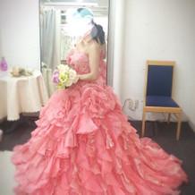決めたドレス ピンク