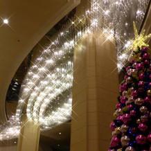 式場前のクリスマスツリー