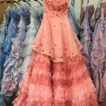 ピンクのツーウェイドレス