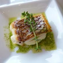 お魚料理の試食
