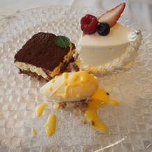 デザート(ウエディングケーキ付き)