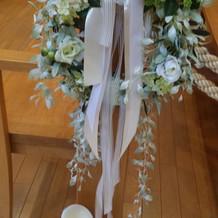 プラン内のチャペル花