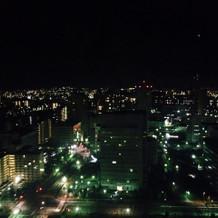 ホテルから見る夜景