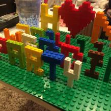 レゴで作成したものをいくつか展示