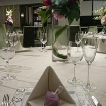 披露宴会場テーブル 装飾一例