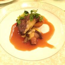 牛フィレ肉のグリエと季節の野菜