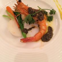 真鯛と海老の料理
