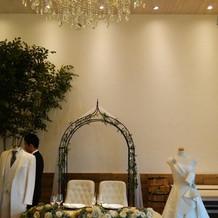 会場内の木にも飾り付けが可能。