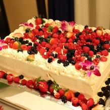 ケーキのデコレーション
