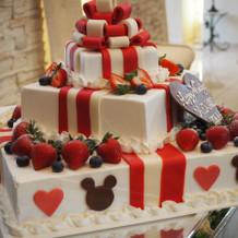 オリジナルのケーキは好評でした