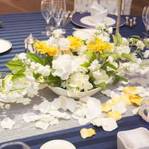 テーブルの花②