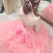 持ち込みしたカラードレス