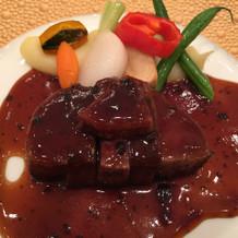 柔らかくておいしいお肉でした!