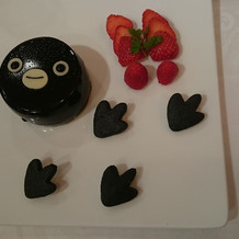 スイカペンギンのケーキ