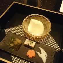 高級なお豆腐が絶品でした