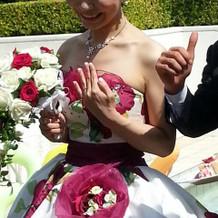 ガーデンで結婚指輪を改めて♪
